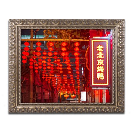 Trademark Fine Art  Redlight  Canvas Art By Philippe Hugonnard  Gold Ornate Frame