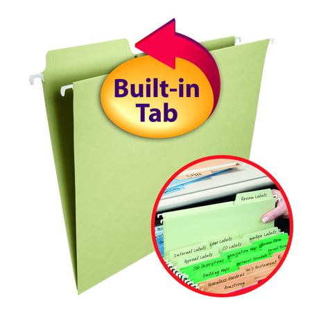 Smead FasTab® Hanging Folders 1/3 Cut Moss 20/BX Letter (64082)