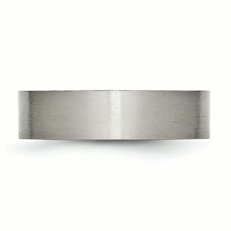 Titanium Flat 6mm Brushed Band Ring 13.5 Size - image 3 of 6