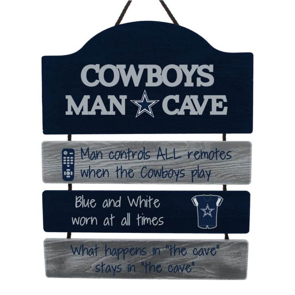 Officially Licensed NFL Team Logo Man Cave Signs Assorted Teams (Dallas Cowboys)