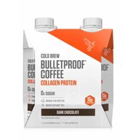 Bulletproof Original Cold Brew Coffee with Collagen Protein with Brain Octane MCT and Grass-fed Butter, Keto Friendly, Sugar Free ( 4-pack)