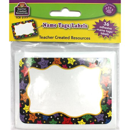 Teacher Created Resources 5177 Happy Stars Name Tags