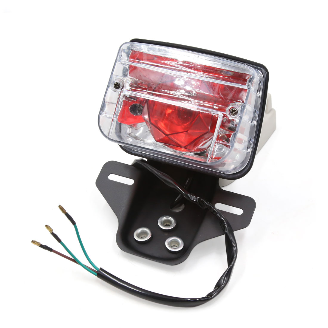 DC 12V Plastic Shell Red License Plate Lamp Motorcycle Tail Light for CG125 - image 4 of 4