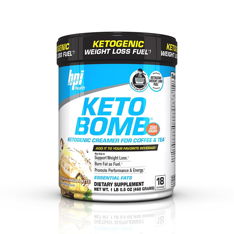 BPI Health Keto Bomb Ketogenic French Vanilla Latte, 18 Servings