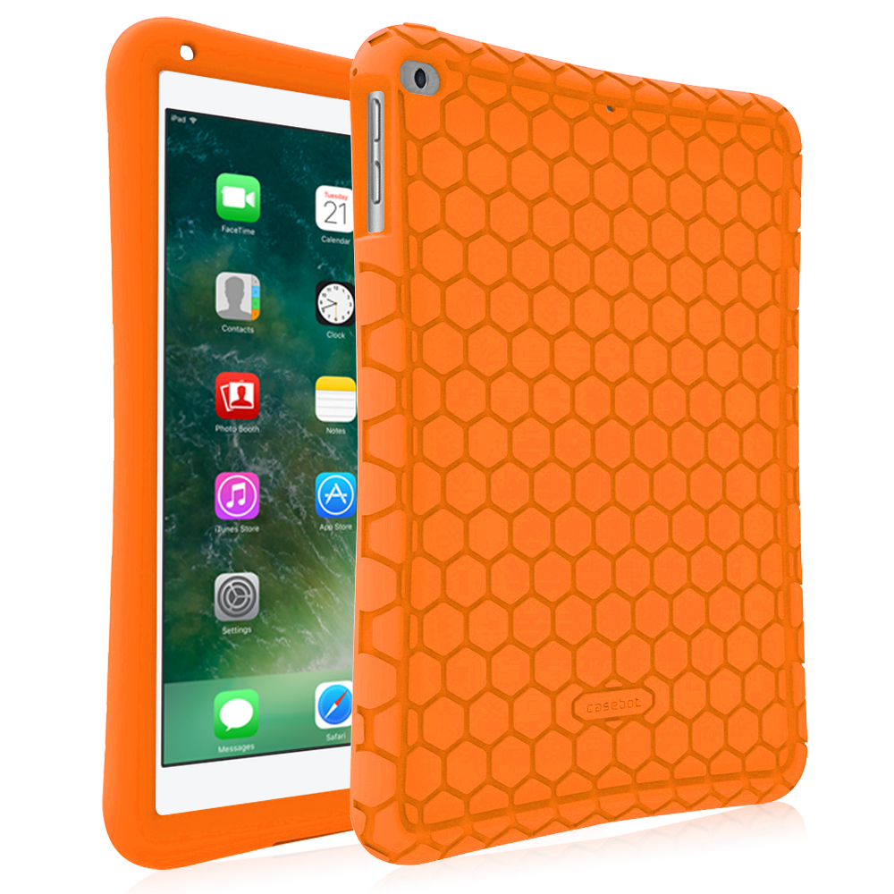 Fintie New iPad 9.7 Inch 2018 2017  / iPad Air 2 / iPad Air Case - Anti Slip Shock Resist Silicone Cover