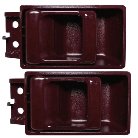 - Pair of Inside Inner Red Door Handles Replacement for Nissan Pickup Truck 8067015G00