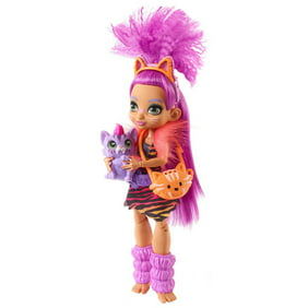 Cave Club Roaralai Doll (8 - 10-Inch) Prehistoric Fashion Doll with Dinosaur Pet