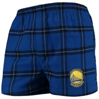 Golden State Warriors Concepts Sport Homestretch Flannel Boxer Shorts - Royal