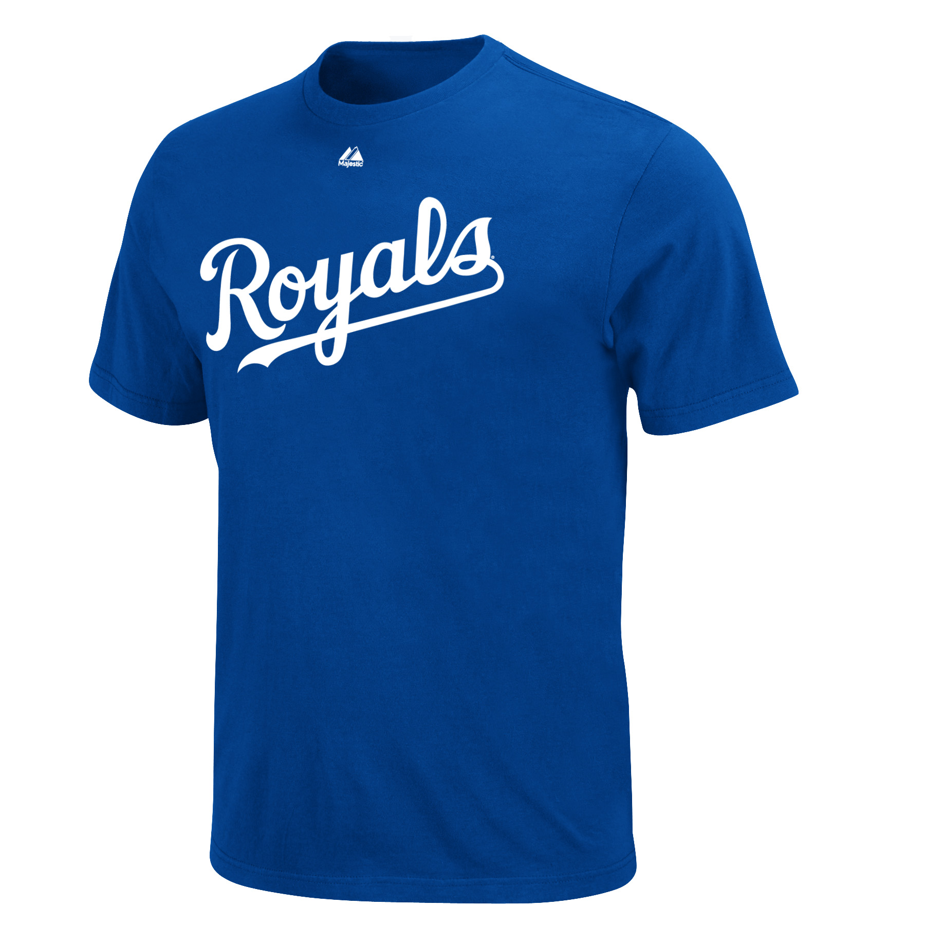 Kansas City Royals Majestic MLB Wordmark Men T Shirt Blue