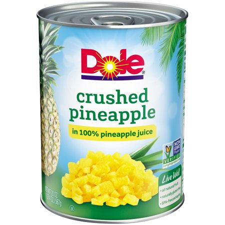 Roasted Pineapple - (4 Pack) Dole Crushed Pineapple in 100% Juice, 20 oz