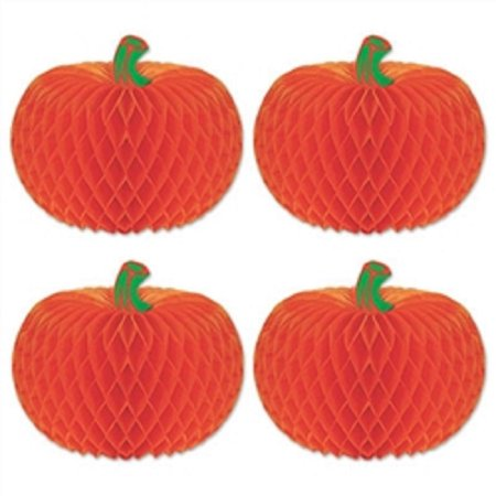Club Pack of 48 Orange Tissue Pumpkins Halloween Table Top Centerpiece Decorations 4