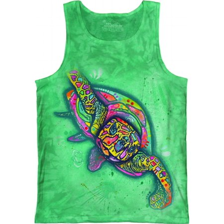 NEW Green 100% Cotton Russo Turtle Novelty Tank Top Shirt