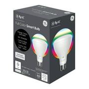 GE LED 9W (65W Equivalent) C by GE Full Color Br30 Flood Light Bulb, E26 Medium Base, 13 Year Life, 1pk