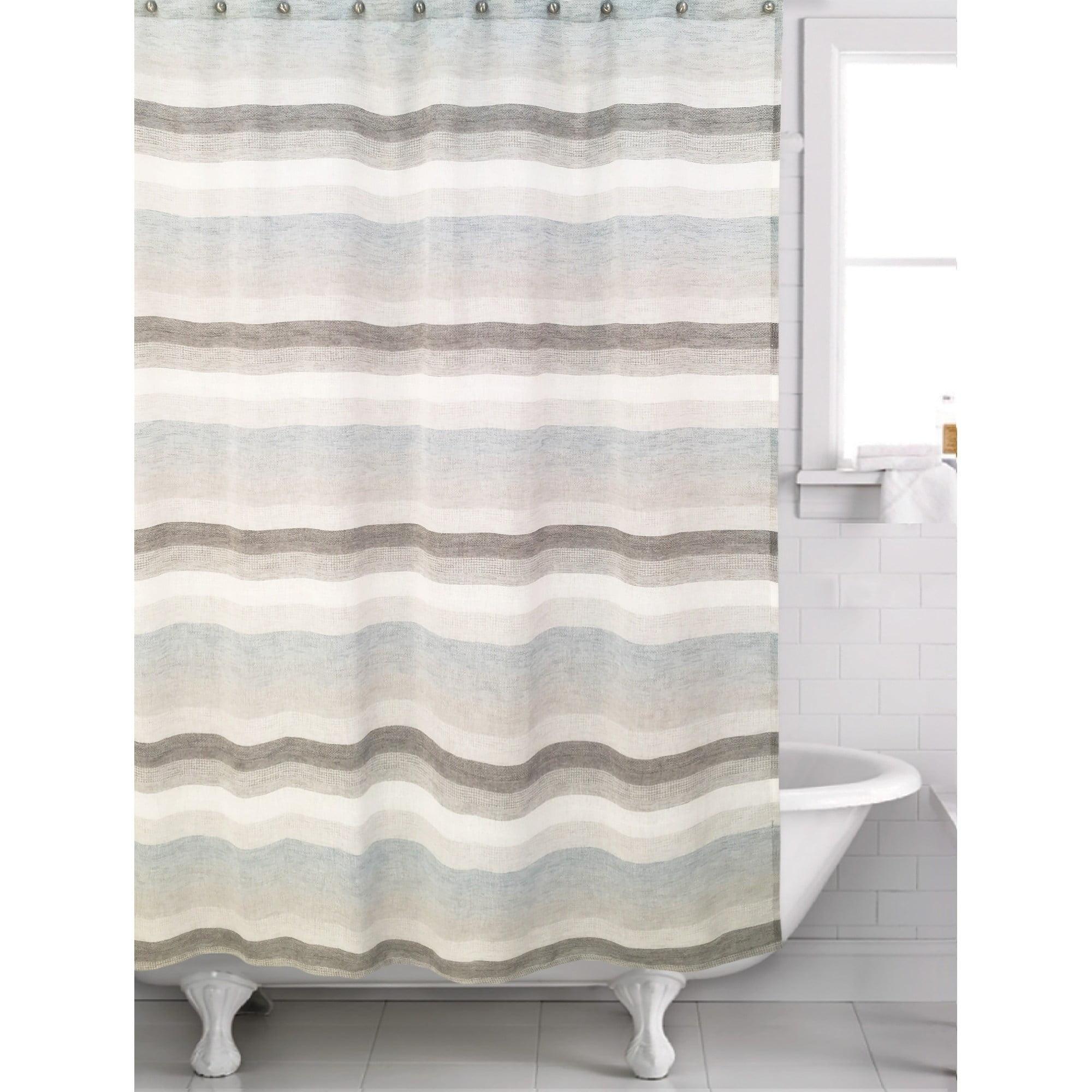 Horizon Blue Shower Curtain Walmart Com