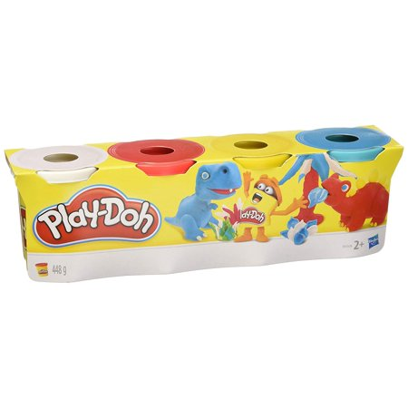 Play-Doh Classic Colors 4 Pack Red Blue Yellow White