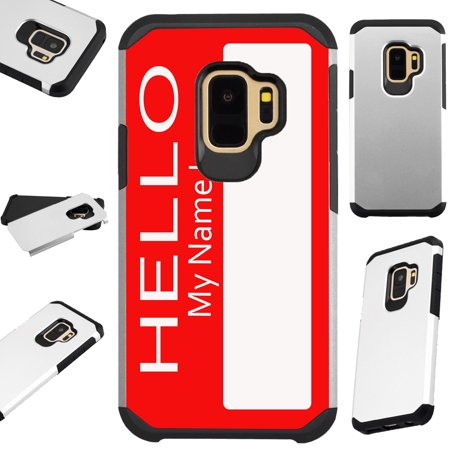 For Samsung Galaxy S9 Plus Case Hybrid TPU Fusion Phone Cover (Name Tag)