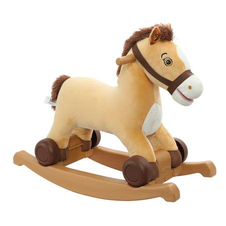 Rockin Rider 2-in-1 pony/unicorn Plush Ride-on