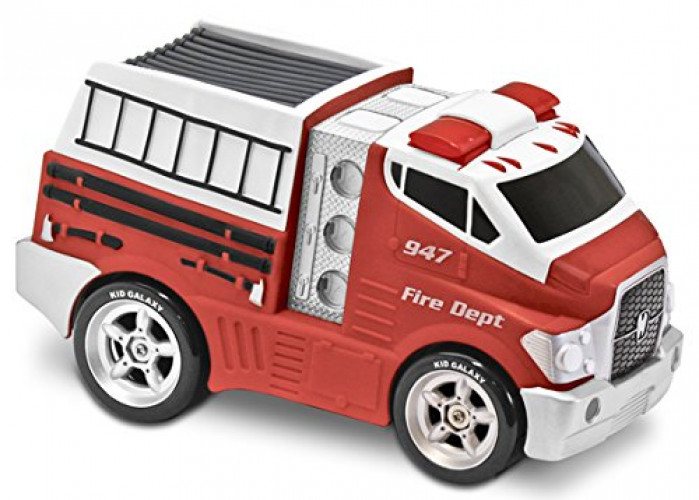 Kid Galaxy Jumbo Soft and Squeezable Fire Truck. Toddler Light and Sound Effects Emergency... by Kid Galaxy