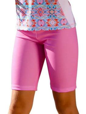 Sun Emporium Little Girls Milkshake Pink Summer Daze Print Surfer Shorts