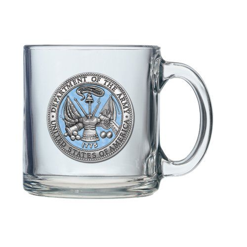 United States Army Clear Coffee Mug Set