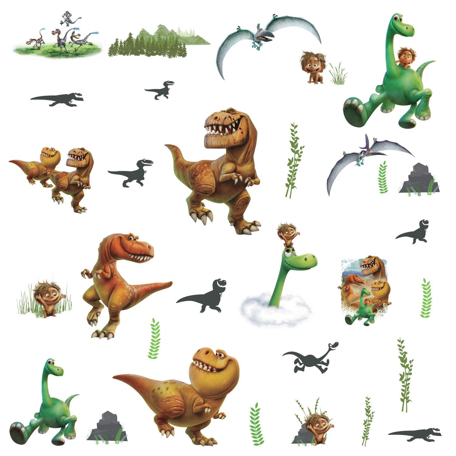 THE GOOD DINOSAUR Wall Decals Arlo Butch Spot Nash Ramsey Dino Stickers Room Decor