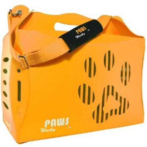 Wacky Paws WPC015-OR ECO Pet Carrier V1, Orange, Small