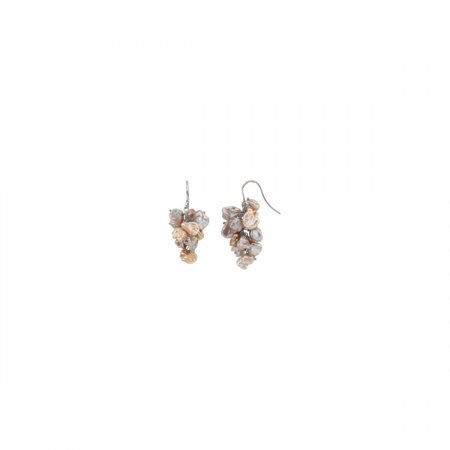 Keshi Keishi Pearl (Freshwater Keshi Cultured Pearl Earrings 66600 / Ster / Pair 08.00 - 09.00 Mm / P / Freshwater Keshi Multi-Colored )