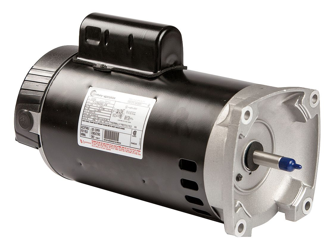 Century 1-1 2 HP Square Flange Pool Pump Motor, Permanent Split Capacitor, 3450 Nameplate... by A.O. SMITH