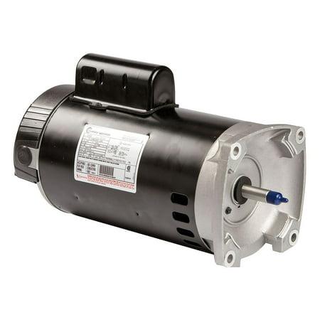 Century Pool - Century 1-1/2 HP Square Flange Pool Pump Motor, Permanent Split Capacitor, 3450 Nameplate RPM, 115/230 Volta - B2858