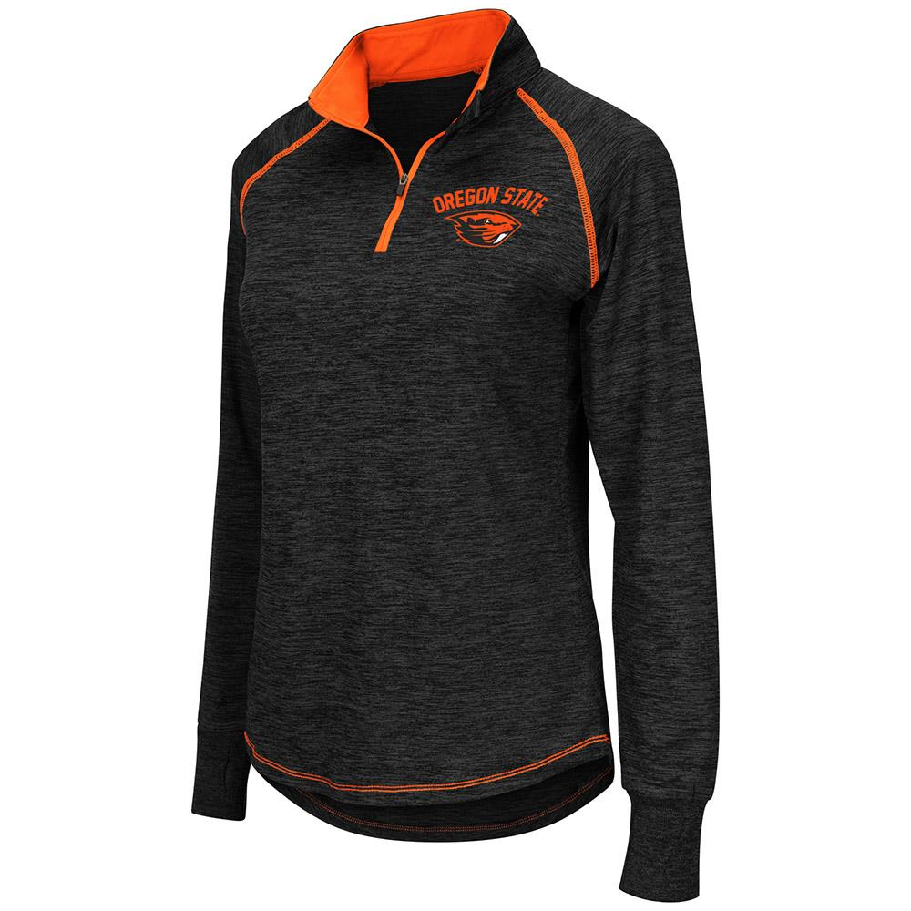 Womens Oregon State Beavers Quarter Zip Wind Shirt - S