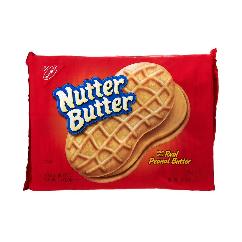 Nabisco Nutter Butter Peanut Butter Sandwich Cookies, 1.0 LB