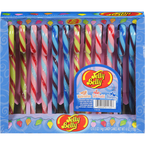 Jelly Belly Holiday Candy Canes, 12 count