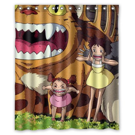 DEYOU My Neighbor Totoro Shower Curtain Polyester Fabric Bathroom Size 60x72 Inch