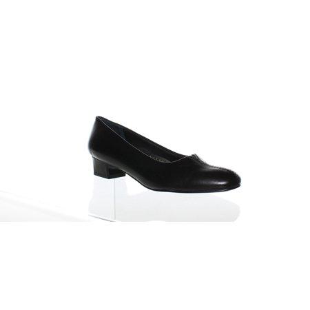 Trotters Womens Doris Black Soft Kid Heels Size 7.5 (AA,N)
