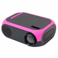 Mini Projector Support 1080P TF Card AV USB HD Interface Portable Home Theater Projector US Plug Red