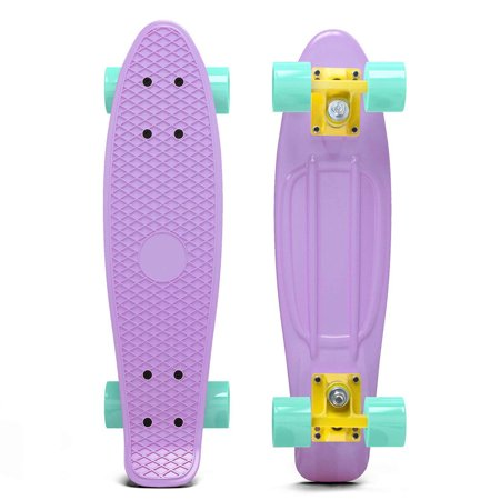 Penny Style Cruiser 27 Inch Nickel Board Plastic Retro Mini Skateboard Complete  Lilac