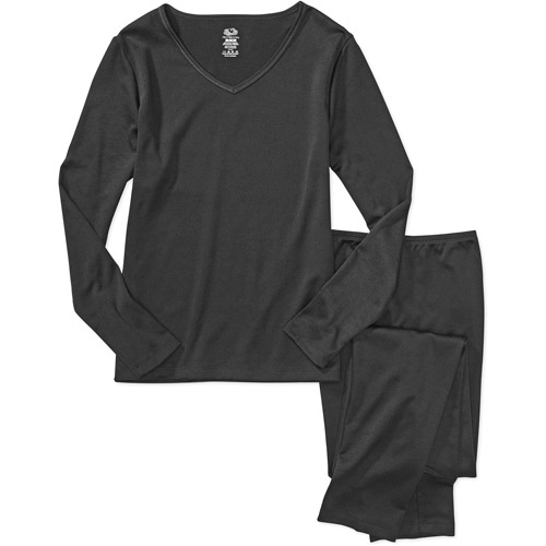 Fruit of the Loom - Women's Warmwear Thermal Tee and Pants Set