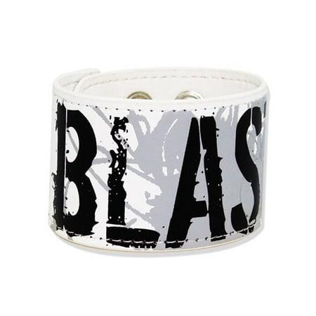 Wristband - Nana - New Blast (Black Stone) Leather Rubber PVC Licensed (Leather Band Stones)