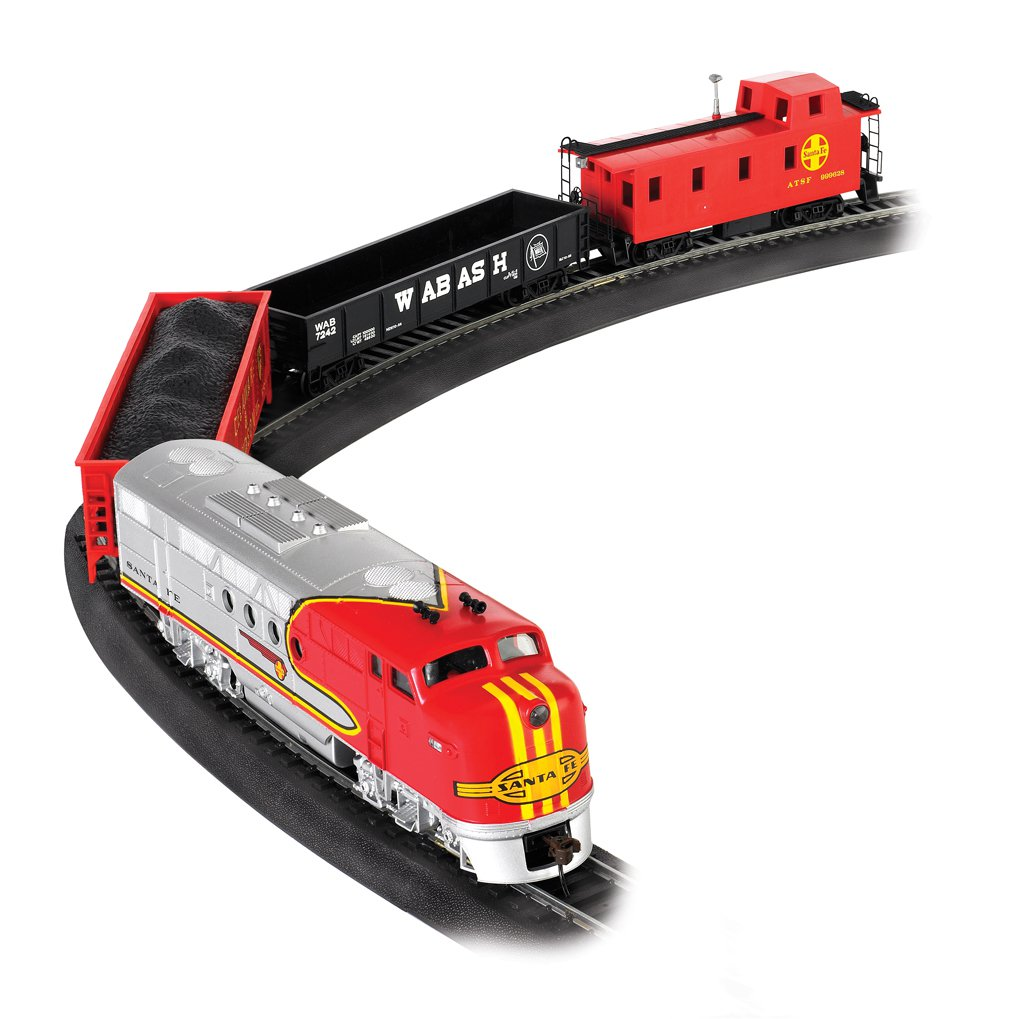Bachmann Trains Santa Fe Flyer HO Scale Ready-to-Run Electric Train Set | 647-BT