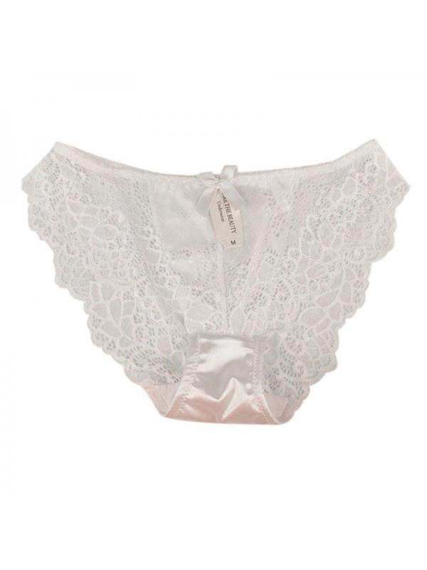 Ropalia Women Seamless Lace Briefs Panties Breathable Underwear