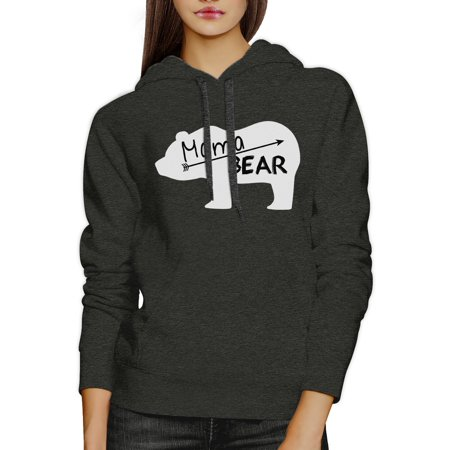 Mama Bear Dark Gray Unisex Cute Hoodie Unique Mothers Day Gift - Mother Day Craft Ideas