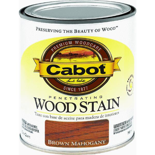 CabotStain 1 Quart Brown Mahogany Interior Oil Wood Stain 144-8134 QT