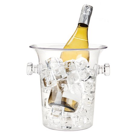 Ice Wine Bucket, Clear Acrylic Durable Large Insulated Vintage Ice Buckets