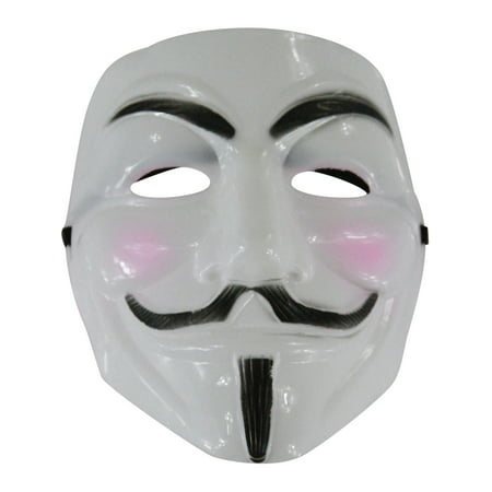 Adult White Guy Fawkes V Anarchist Anonymous Mask Costume Accessory