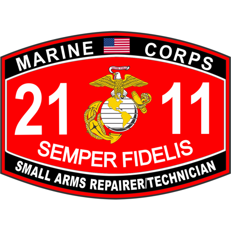 - 3.8 Inch Small Arms Repairer / Technician Marine Corps MOS 2111 USMC Military Decal