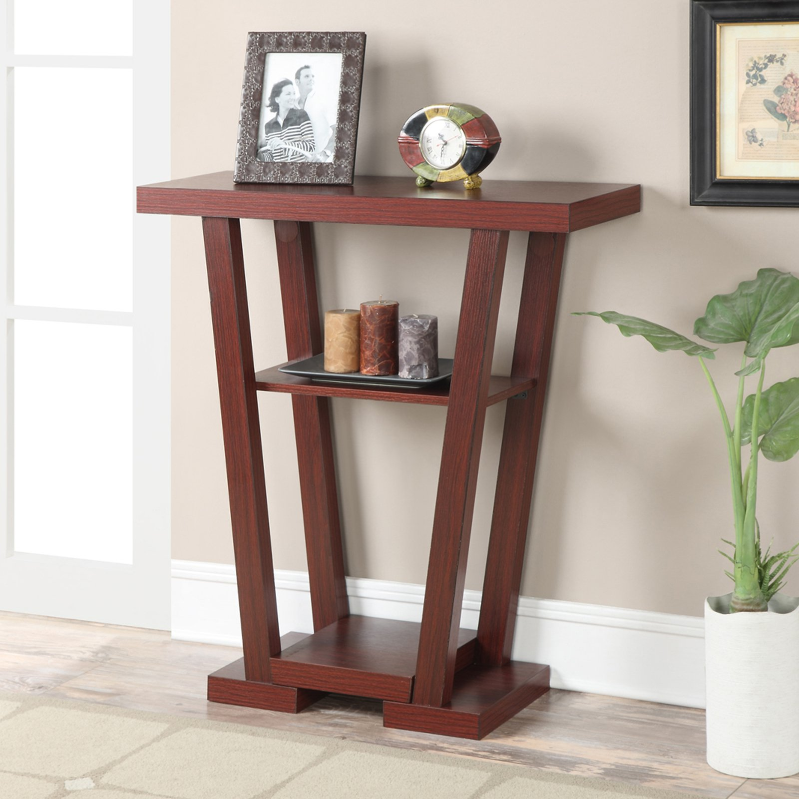 Convenience Concepts Newport V Console Table, Multiple Finishes by Convenience Concepts