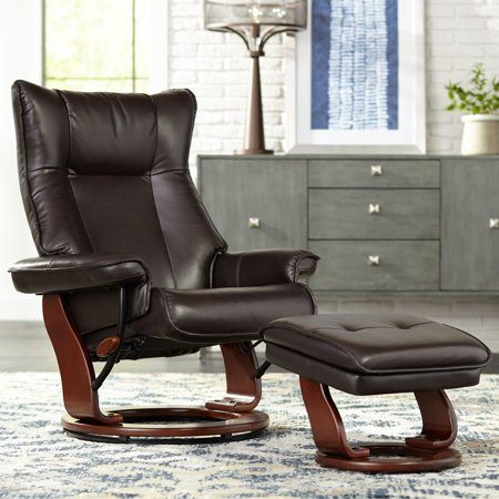 Benchmaster Morgan Java Faux Leather Ottoman And Swiveling