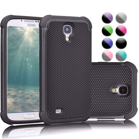 Galaxy S4 Case Samsung 4 Njjex Black Rugged Rubber Double Layer Plastic Scratch Resistant Hard For S Iv I9500