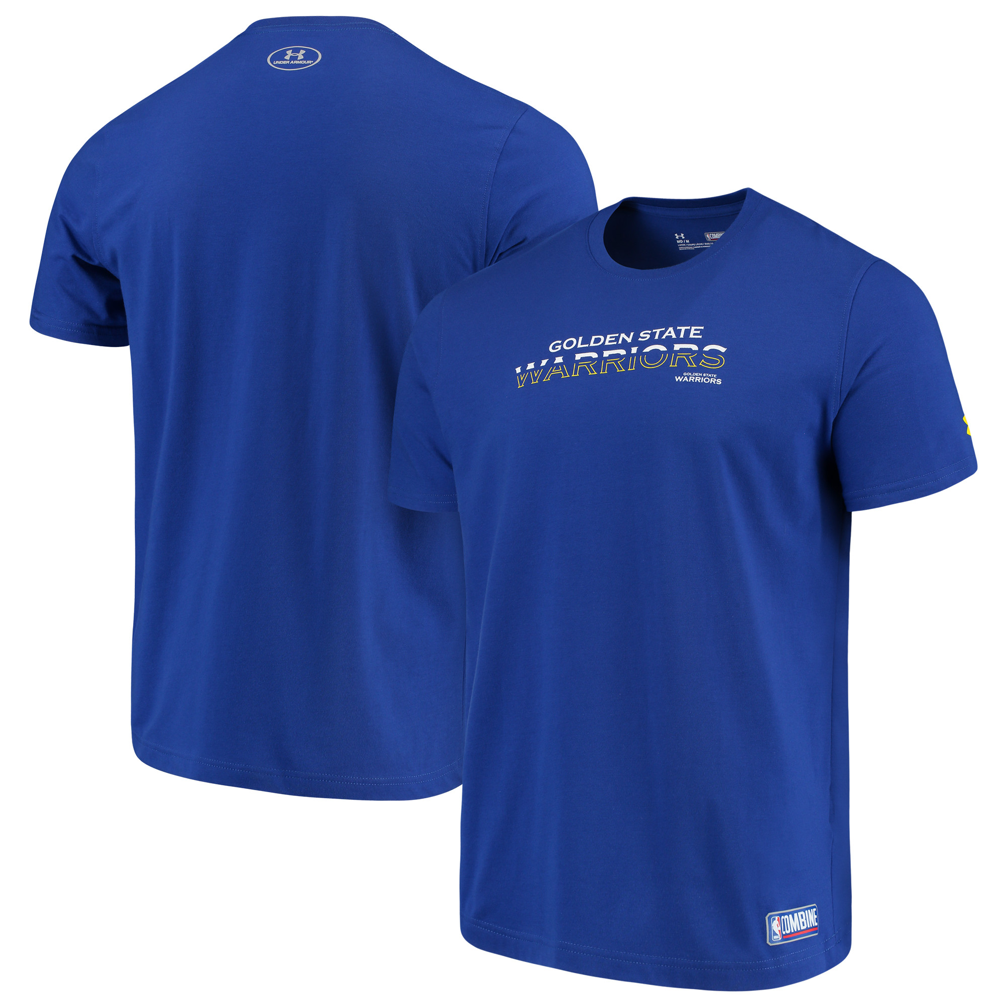 Golden State Warriors Under Armour Combine Authentic Start Your Story Performance Tri-Blend T-Shirt - Royal