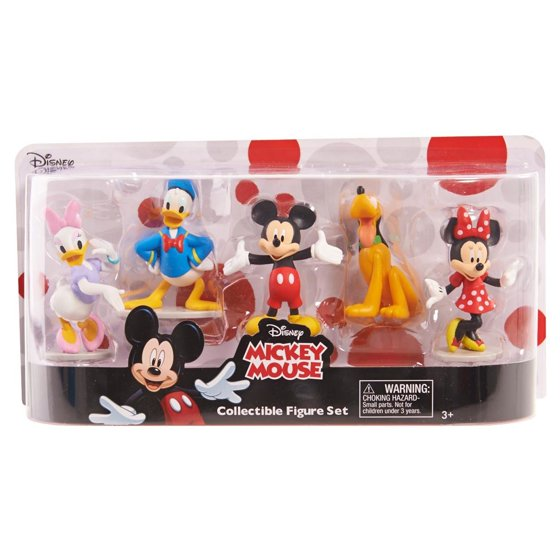 Mickey Mouse Collectible Figure Set - 5 Pack - Walmart.com